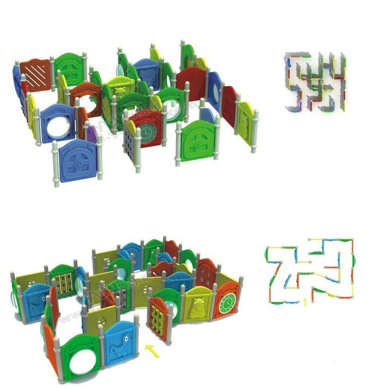 Terrain de jeu de labyrinthe de docteur, parc de labyrinthe d'intérieur d'enfants, jouets éducatifs de grille en plastique, YLW-20maze multifonctionnelle extérieure de labyrinthe de grille