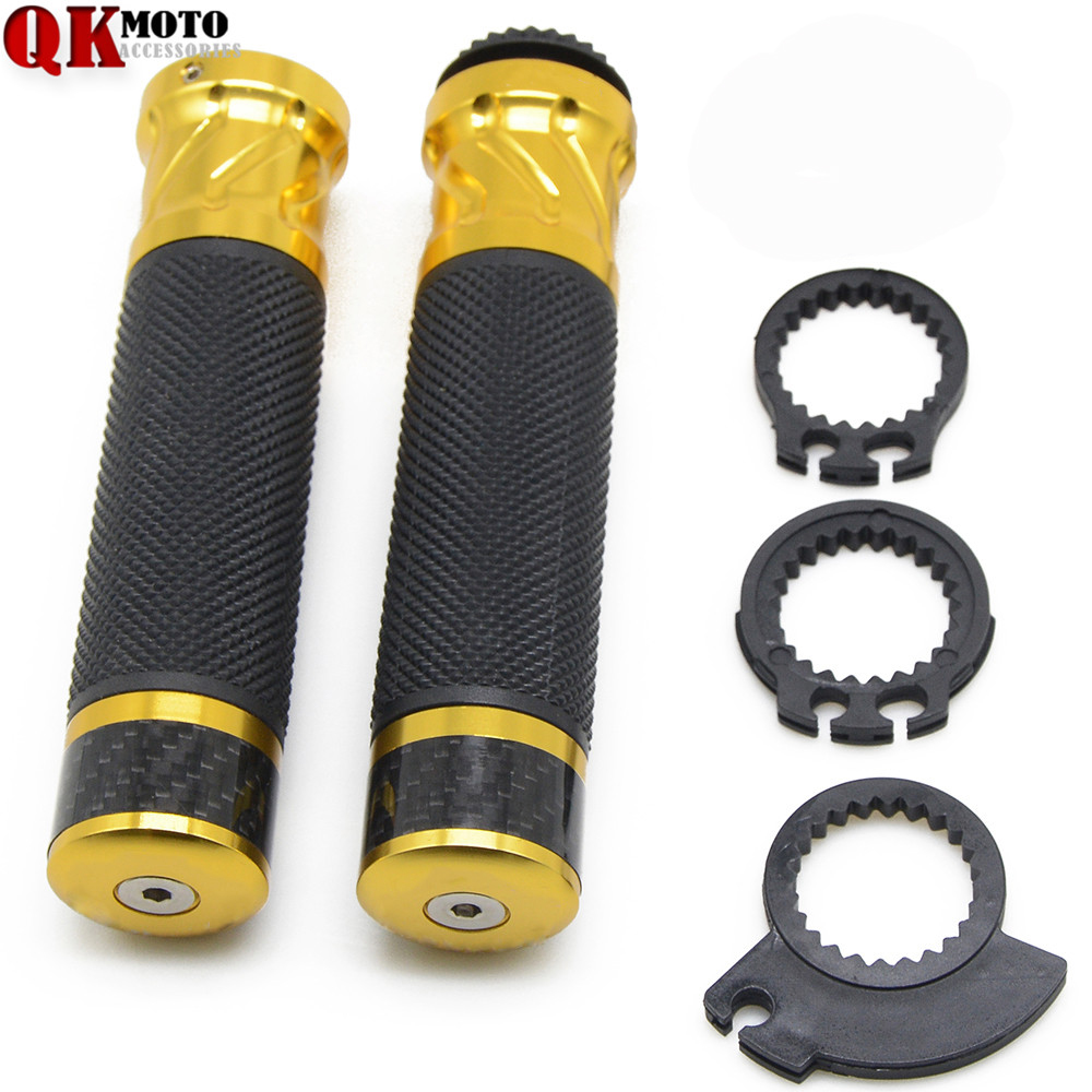 Motorcycle CNC Aluminum Rubber GEL 7/8 22mm Handle Bar Hand Grips MOTOR Accessories