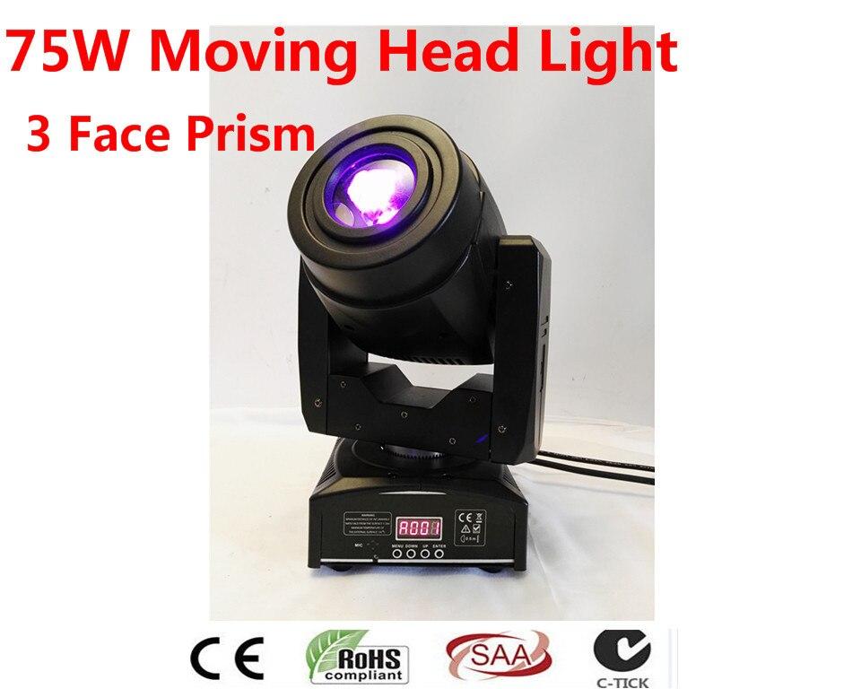 4X75 w светодиодный освещения сцены мобильный голову 3 prisspot канала DMX высокое качество призму Лидер продаж Светодиодный движущегося света нов