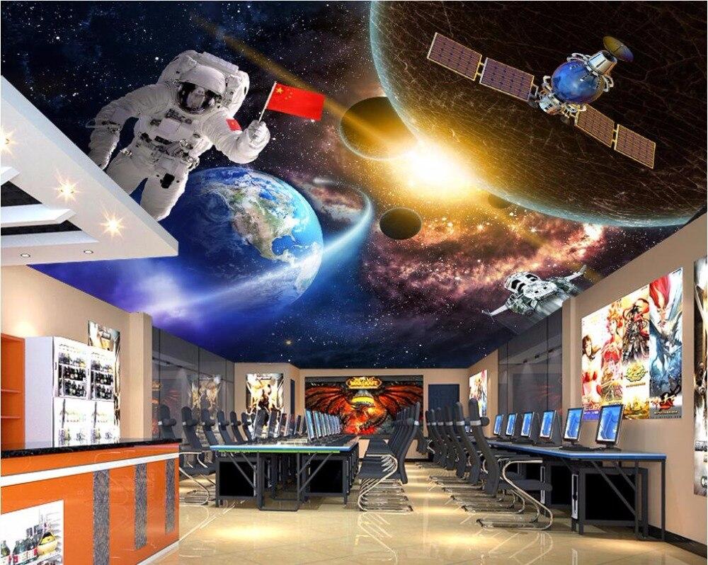 Custom Photo 3d Ceiling Murals Wallpaper Home Decor Astronaut