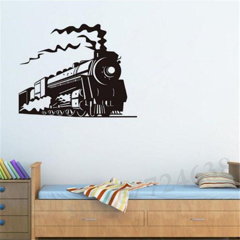Aliexpresscom Buy New Design Locomotive Steam Train Vinyl Wall - Lego wall decals vinylaliexpresscombuy free shipping lego evolution decal wall