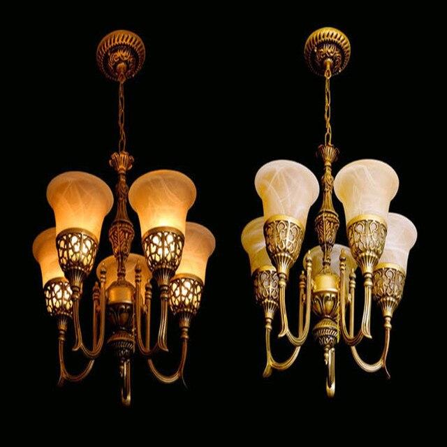 Novelty Led Luxus Lampen Europäischen Stil Vintage Kronleuchter Hohe  Qualität Wohnzimmer Lampen Pastoralen Stil Restaurant Lichter