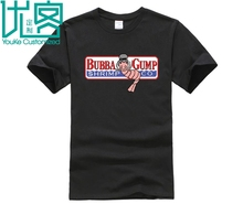 Bubba Gump Forest shrimp seafood co. eighties T-Shirt Black Basic Tee