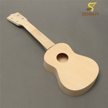 21 Inch Unassembled Wooden Ukulele Rosewood Fretboard Guitar Uke DIY Kit With Musical Accessories For Beginners or Basic Players