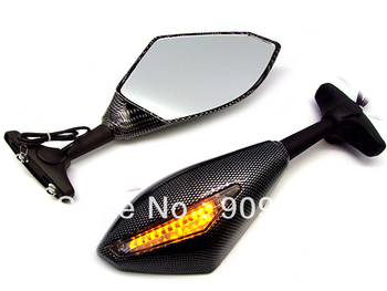 Carbon Turn Signal Integrated Mirrors for Honda CBR 600 F3 F2 F4i 929 954 1000RR image
