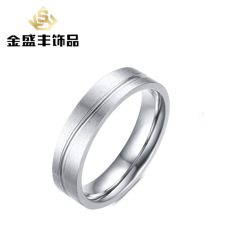Stainless steel ring 5 mm wire drawing couples ring for male can ...