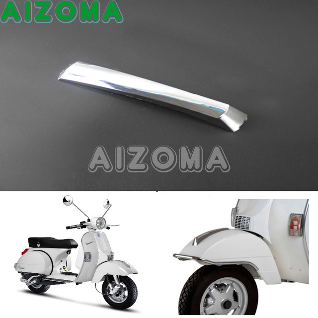 US $9 96 |Front Mudguard Crest Stainless Steel 1pcs For VESPA PX 125 150  200 LML T5 EFL Disk Motorcycle Parts Fender Crest Trim -in Covers &