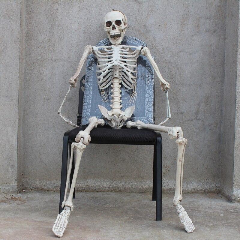 Halloween Horror Toy Chamber Props Ghost House Imitation Skeleton Model Bone Frame Tomb Skeleton Halloween Decoration Gag Gifts