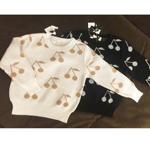 Pattern Full Cherry Pullover Kids Boys Sweaters Kids Winter Sweater 2016 Kinderkleding Meisjes Pull Enfant Fille Cicishop