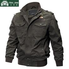 2018 плюс размер военная куртка мужская весна осень хлопок пилот куртка пальто армейский мужской бомбер куртки карго летная куртка мужская 6XL