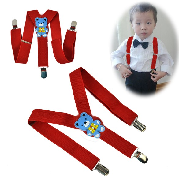 Top Sale Suspenders Boys Girls Suspender Children Clip On