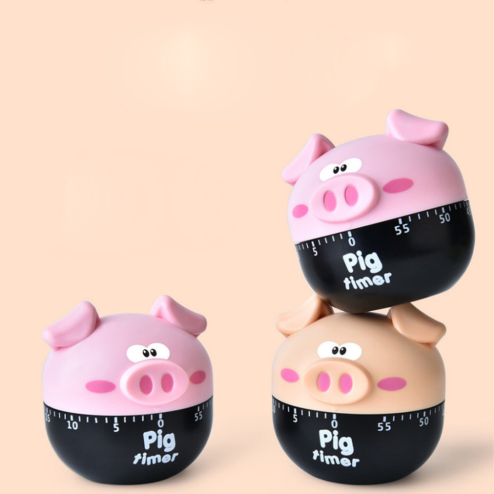 US $2 91 27% OFF|60 minutes Kitchen animal pig Timer Dial Alarm Plastic  Clock Electronic Cooking Kitchen Timer assistant home baking tools 15-in