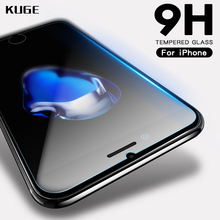 KUGE 9H 2.5D Tempered Glass For iPhone 6 6s 7 8 plus 4s 5 5s se X glass iphone X 6 6s 7 8 Plus screen protector Protective glass