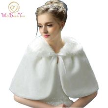 Real Picture White Ivory Wedding Jacket Faux Fur Capes 2015 Bridal Boleros Shawls wrap Free Shipping Custom Made