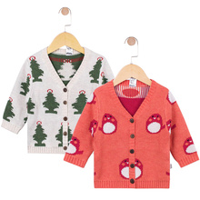 TinyPeople new cartoon Baby autumn Knit Sweater Cotton lovely baby Boy girl Child clothes New Born Toddler warm Long sleeve coat