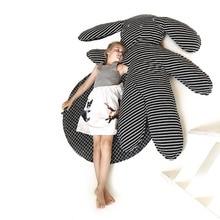 INS kanin baby filt randig mattor barn kudde leksak mattor barn leksaker baby sovrum dekoration g57