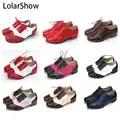 Frauen Tippen schuhe Echtes Full Grain Leder Oberen, fitness & Cross Training Schuhe Berufs Tap schuhe Multicolors Größe 35 40