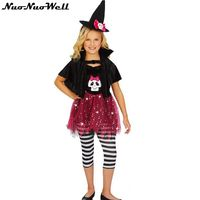 Halloween Costume Kids Cosplay Professional Girl Skull And Witch Skirt European And American Girls Game Uniform