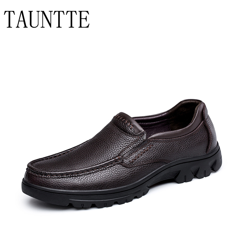 Winter Men Casual Genuine Leather Shoes Slip On Loafers Men Flats Plus Size  red black flats d41ac265f9d2
