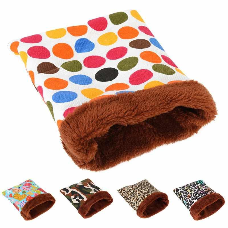 ホット販売暖かいぬいぐるみハムスターベッドハウスソフトモルモットベッドラット巣小動物マウス寝袋 cavie 家アクセサリー