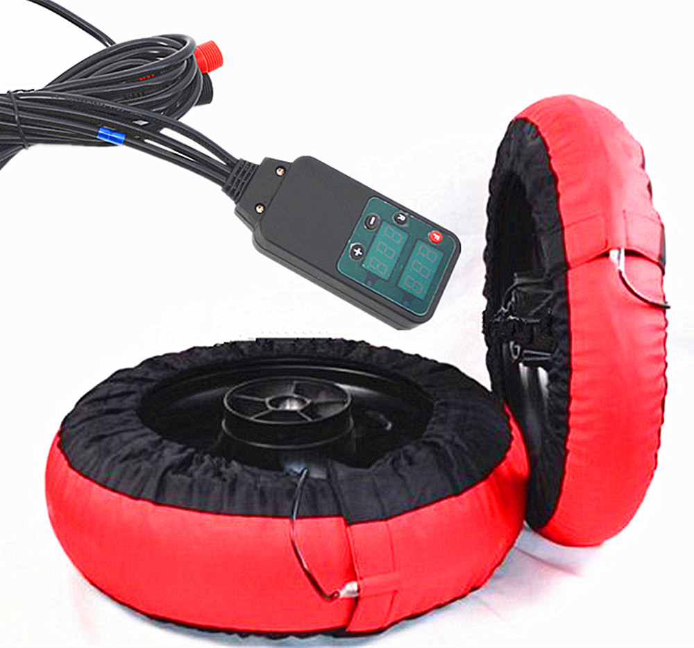 Motorcycle Tire Warmer Set 120 200 Front and Rear Race Tyre Warmer Electric Blankets with digital