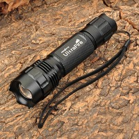 503B 960lm 5 Mode White Zooming Flashlight XM L T6 LED Torch Free Shipping Powered By