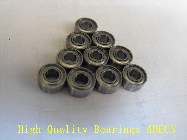 Livraison gratuite 10 pièces 7x14x4mm S687 ZZ W4 ABEC3 7x14x4mm roulements en acier inoxydable
