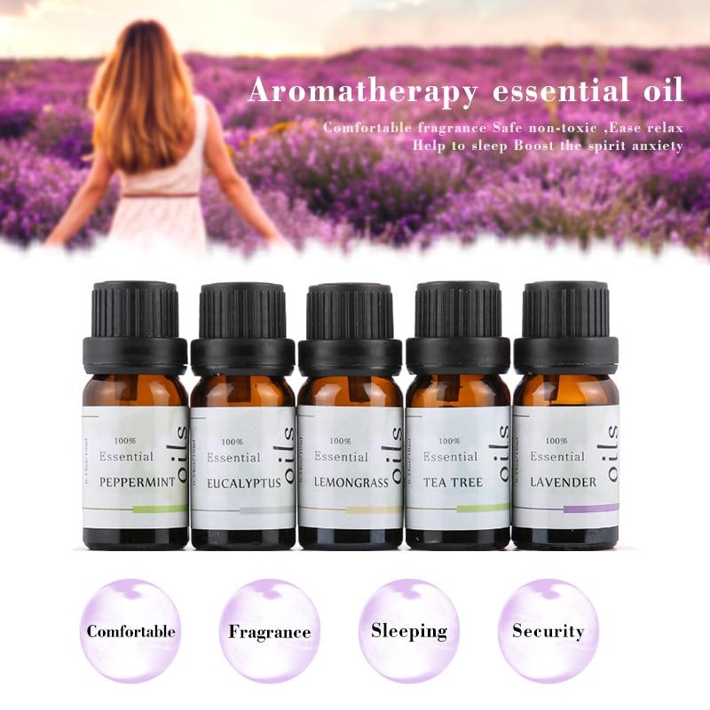 5 teile/satz Wasser-löslich Blume Obst Ätherisches Öl Entlasten Stress für Luftbefeuchter Duft Lampe Luft Auffrischung Aromatherapie TSLM2