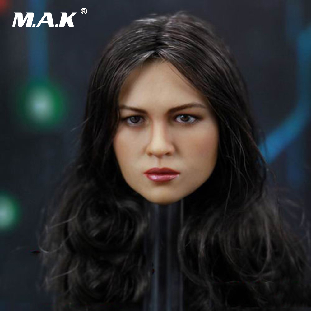1:6 Scale Female Head Sculpt Fast and Furious 8 Michelle Furious Lady  for 12 Inches Woman Figures Bodies Dolls 1 4 scale 18 inches male movable bodies collectable figures for 1 4 mens head sculpt