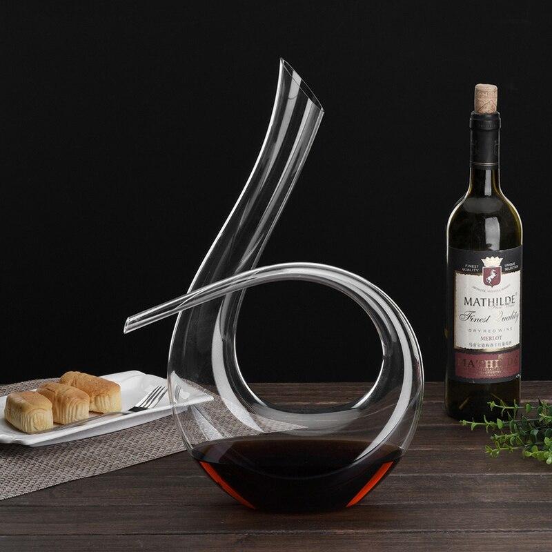 Handmade Crystal Red Wine Pourer Glass Decanter Brandy Decant Set Jug Bar Champagne Water Bottle Drinking Glasses Gift