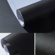 Матовая черная серая Наклейка самоклеющиеся виниловые обои рулон
