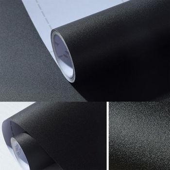 black gray Matte  Black Gray Peel Sticker Self Adhesive Vinyl  Wallpaper Roll