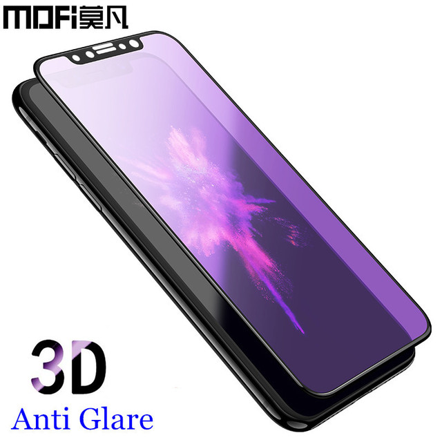 separation shoes 168e1 2b587 US $8.7 14% OFF|for iPhone x tempered glass 3D full cover screen protector  for iPhonex protective film MOFi original for apple iPhone x glass-in Phone  ...