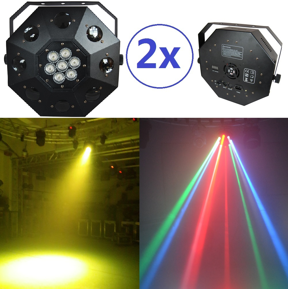 2xLot Sale 2015 Led Dancing Floor Light 8x3W white CREE led + 7x10W 4in1 RGBW Moving Head Stage Party Lights DJ Laser Projector free shipping hot sale stagelight led dancing floor light for dj wedding