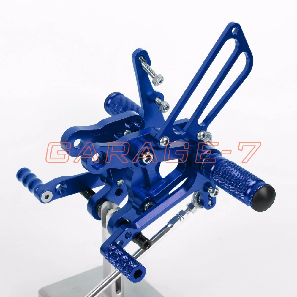 CNC Rearsets Adjustable Foot Rests Rear Set Blue For HONDA CBR400 NC29 1993-1999 1997 1998 1994 1996 1995 Motorcycle Foot Pegs