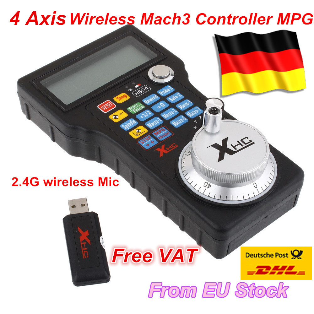 New Wireless USB MPG Pendant Handwheel Mach3 For CNC Mac.Mach 3, 4 axis Controller for Mach3 System Router
