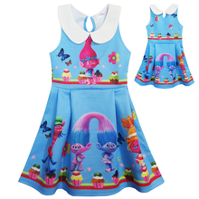 Moana Dress Children Clothing Summer sleeveless Dresses Girls Baby Costume Princess Party Dress Girl Clothes Kid Casual Clothes