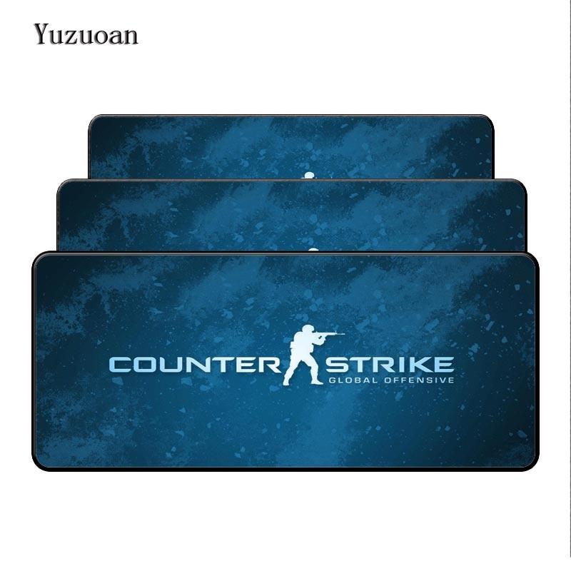 Yuzuoan 90cm*40cm large CS:GO gaming mouse pad XXL big game Locking Edge mousepad keyboard desk mat CSGO Gamer mouse mat