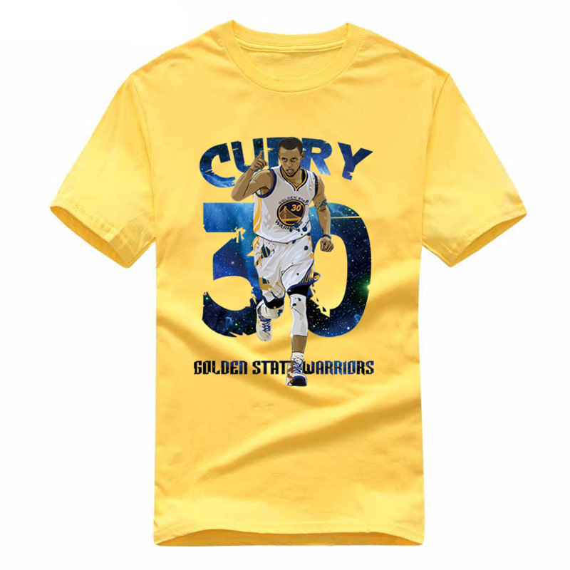 Warriors Stephen Curry T-shirts New Fashion Men Short Sleeve O-neck Cotton Funny Chef T Shirt Casual Loose Hip Hop Letter Tee