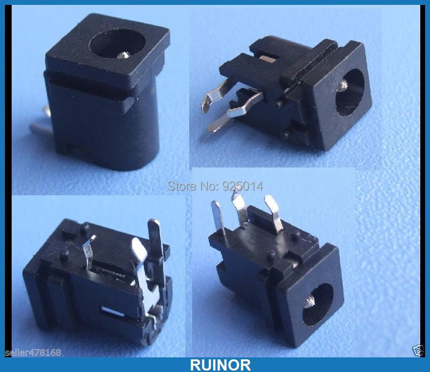 500 pièces 3 broches 4.8mm X 1.7mm DC prise jack pour chargeur prise d'alimentation PCB soudure 028