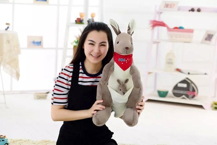 big plush blue scarf kangaroo toy stuffed kangaroo doll gift about 70cm