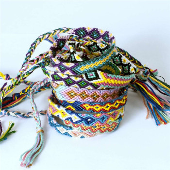 Bracelet Tissu Africain