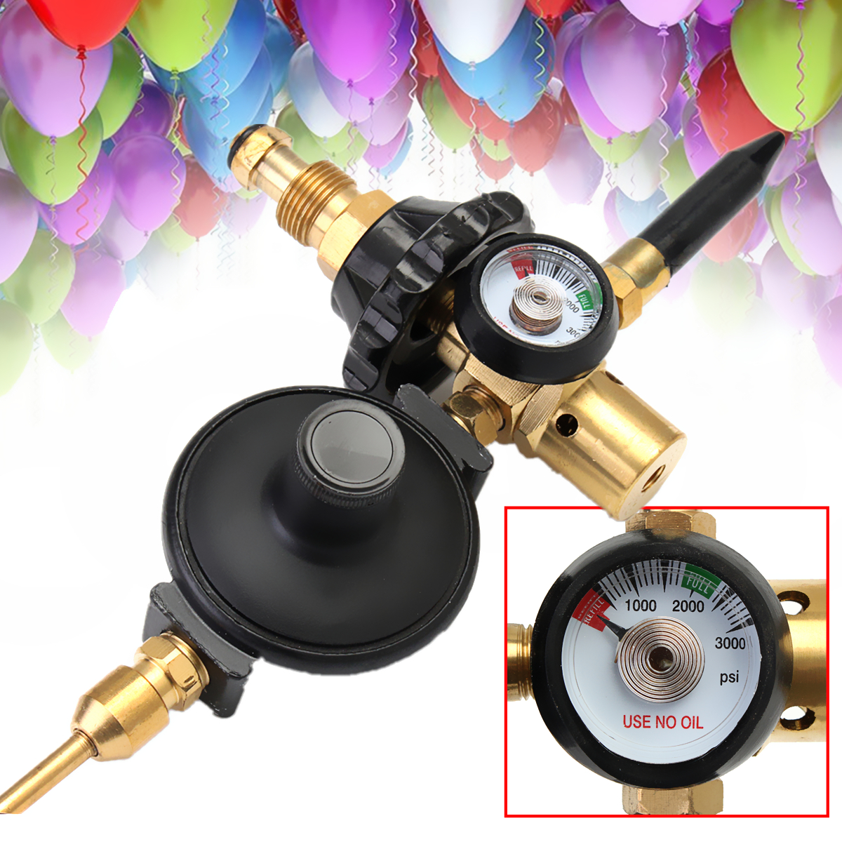 Helium Latex Balloon Air Flow Inflator Regulator Meter Gauge For G5/8 Tank Valve nf 2650 digital laser distance meter handheld laser rangefinder tape measure distance area volume in level tool lofting function