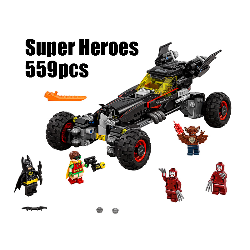 Compatible Legoe batman 70905 Lepin 07045 559pcs super heroes movie blocks The Batmobile toys for children building blocks decool 7118 batman chariot super heroes of justice building block 518pcs diy educational toys for children compatible legoe