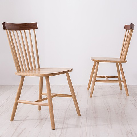Nordic Chair American Country Retro Simple Wood Chairs Coffee Armless