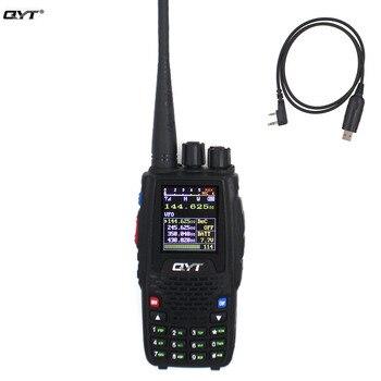 Qyt quad band handheld rádio em dois sentidos KT-8R 4 banda interfone ao ar livre kt 8r uv 2 vias rádios kt8r cor display 5 w transceptor