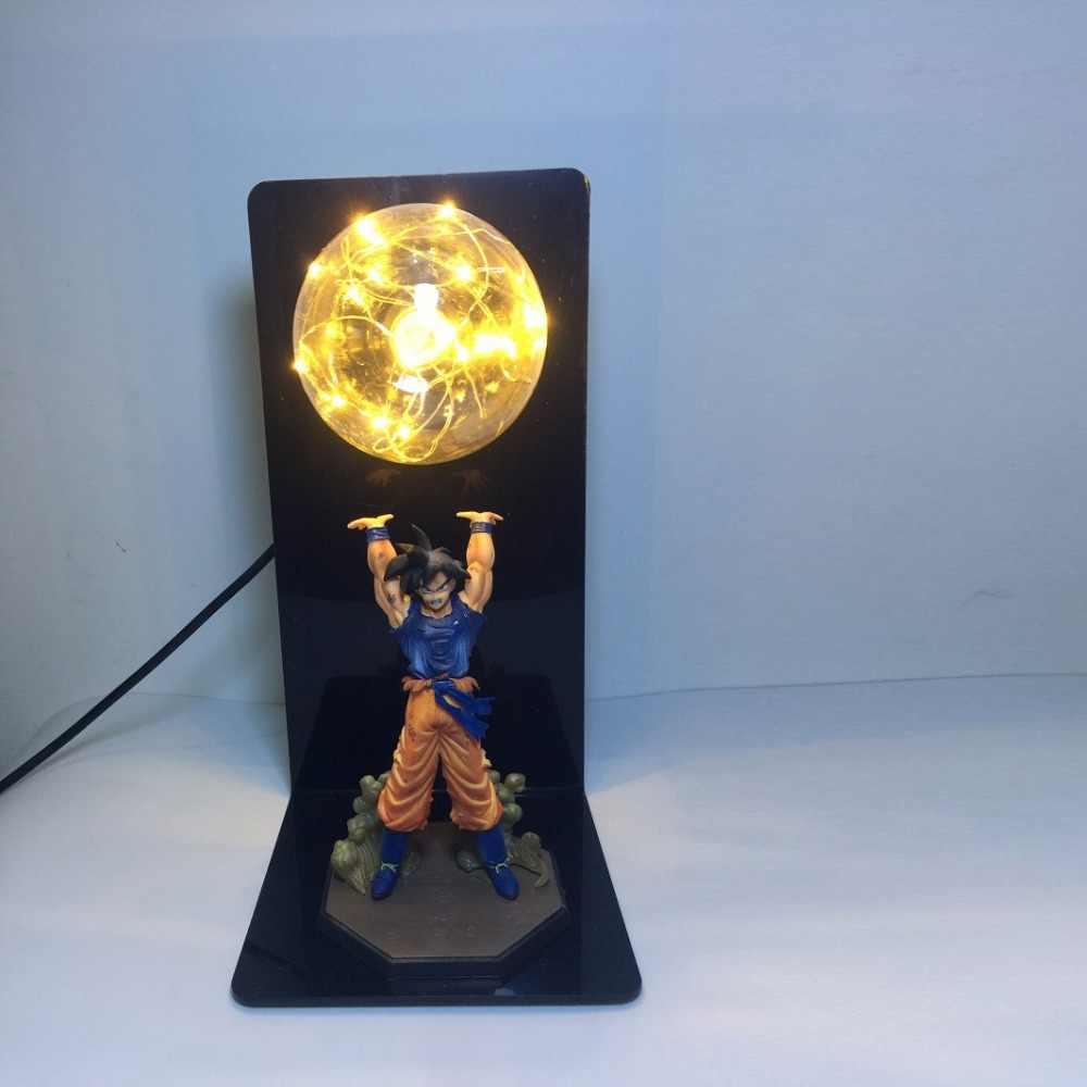 DIY аниме Dragon Ball Z Фигурки Гоку сон фигурка Коллекционная модель куклы светодиодный лампы игрушки для детей Рождественский подарок