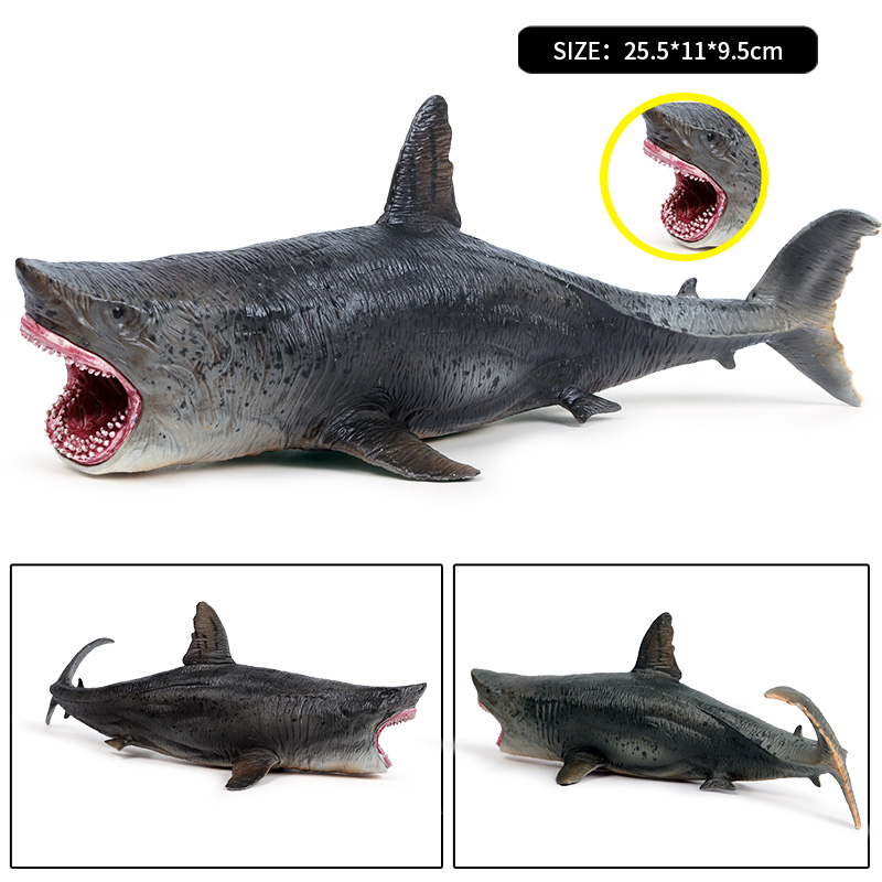 Play Mule Children Simulation Seabed Creatures Shark Toy Model Megalodon Shark White Shark Man Shark Model Children's Toy Gift