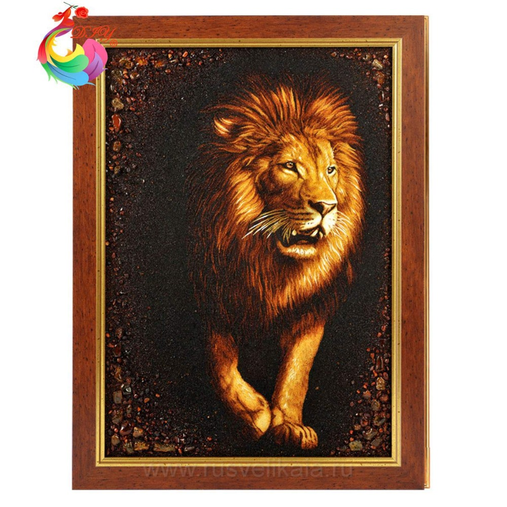 Sequins embroidery pattern Embroidery hoop sale 5d diy diamond painting crystal Diamond mosaic animals Diamond Mosaic