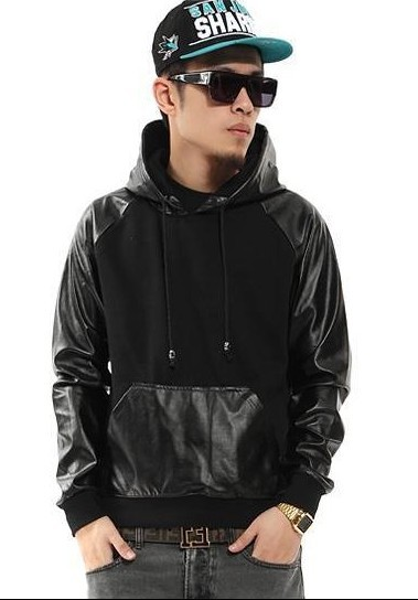 Popular Faux Leather Hoodie-Buy Cheap Faux Leather Hoodie lots ...